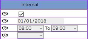 Create edit or cancel Meetings inside order internal part