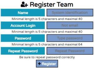 Register new porter team in the system