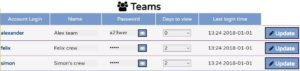 View and configure all system porter teams
